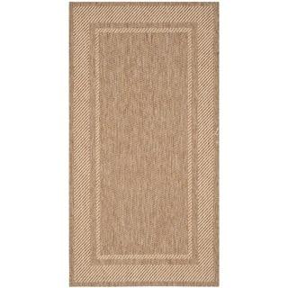 Martha Stewart Color Frame Coffee/ Sand Indoor/ Outdoor Rug (2'7 x 5')