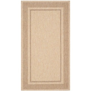 Martha Stewart Color Frame Sand/ Coffee Indoor/ Outdoor Rug (2'7 x 5')