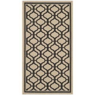 Martha Stewart Tangier Cream/ Black Indoor/ Outdoor Rug (2'7 x 5')