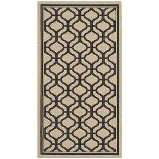 Martha Stewart Tangier Cream/ Black Indoor/ Outdoor Rug (2'7 x 5')