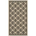Martha Stewart Tangier Cream/ Black Indoor/ Outdoor Rug (4'x 5'7)