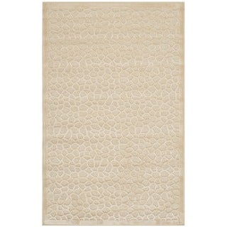 Martha Stewart Turtoise Cream Viscose Rug (2'7 x 4')