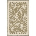 Martha Stewart Fountain Swirl Green/ Ivory Viscose Rug (2'7 x 4')