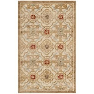 Martha Stewart Imperial Palace Taupe/ Cream Viscose Rug (2'7 x 4')
