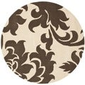 Martha Stewart Barcelona Molasses Wool Rug (4'x 4' Round)