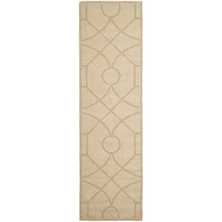 Martha Stewart Fretwork Gravel Wool Rug (2'3 x 8')
