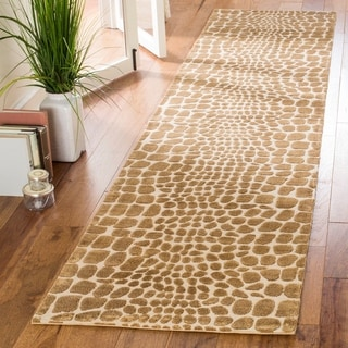 Martha Stewart Amazonia Crocodile/ Green Silk Blend Rug (2'3 x 10')
