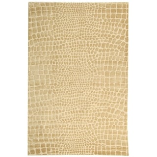Martha Stewart Amazonia Meerkat/ Brown Silk Blend Rug (8'6 x 11'6)