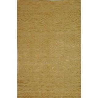 Martha Stewart Journey Sand Silk/ Wool Rug (8'6 x 11'6)