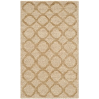 Martha Stewart Quatrefoil Curry Silk/ Wool Rug (2'6 x 4'3)