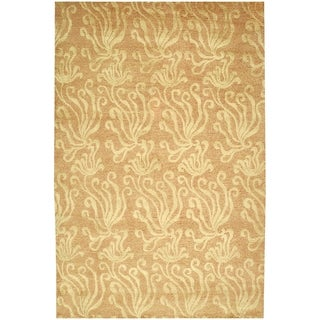 Martha Stewart Seaflora Corraline Silk/ Wool Rug (9'6 x 13'6)