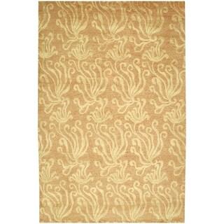 Martha Stewart Seaflora Corraline Silk/ Wool Rug (7'9 x 9'9)