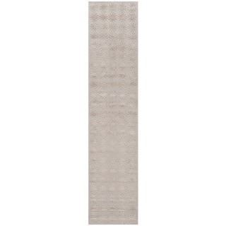 Martha Stewart Constellation Day/ Break Silk/ Wool Rug (2'3 x 10')