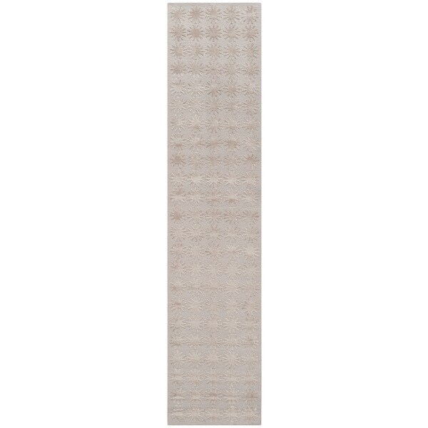 Martha Stewart Constellation Day/ Break Silk/ Wool Rug (2'3 x 10')