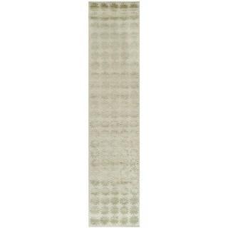 Martha Stewart Constellation Neptune Silk/ Wool Rug (2'3 x 10')