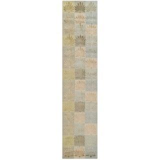 Martha Stewart Sanctuary Oasis Silk/ Wool Rug (2'3 x 10')
