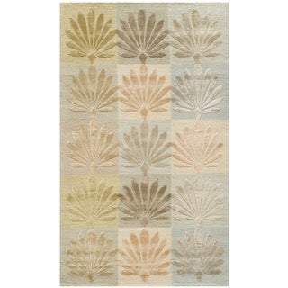 Martha Stewart Sanctuary Oasis Silk/ Wool Rug (3'9 x 5'9)