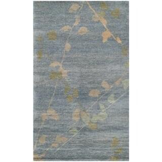 Martha Stewart Trellis Blue/ Quartz Wool Rug (2'6 x 4'3)