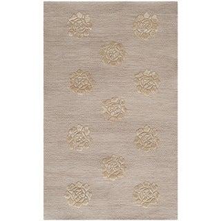 Martha Stewart Medallions Quartz Silk/ Wool Rug (2'6 x 4'3)