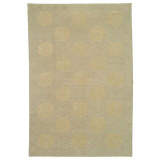 Martha Stewart Medallions Quartz Silk/ Wool Rug (5'6 x 8'6)