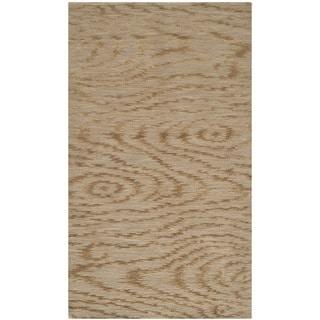 Martha Stewart Faux Bois Porcini Silk/ Wool Rug (2'6 x 4'3)