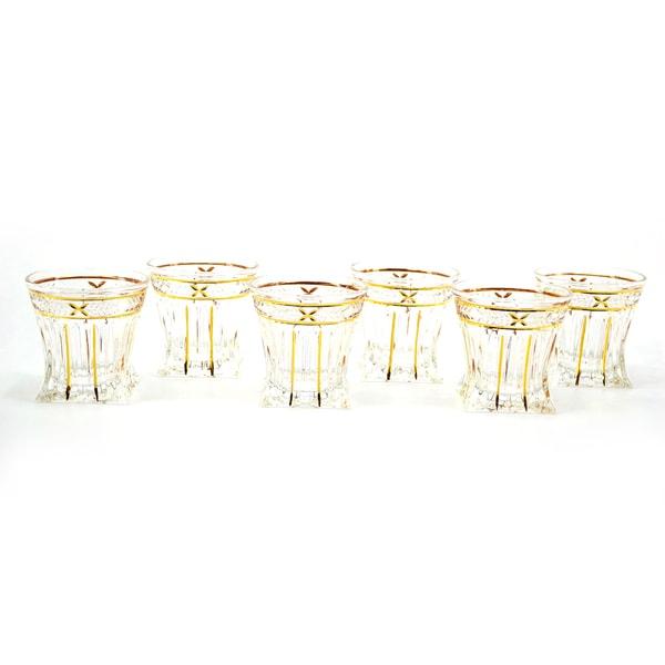 Goldtone Edged Shot Glasses (Set of 6)
