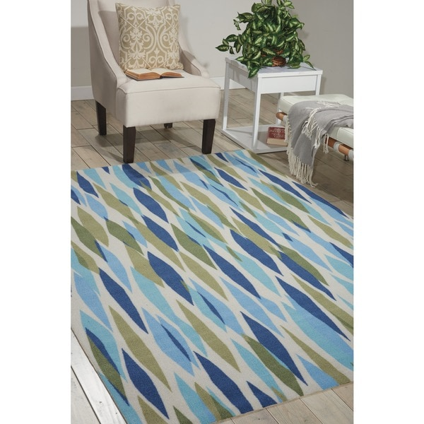 Waverly Sun N' Shade Bits & Pieces Seaglass Area Rug by Nourison (5'3 x 7'5)