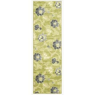 Waverly Aura Flora Wasabi Rug (2'3 x 7'6)