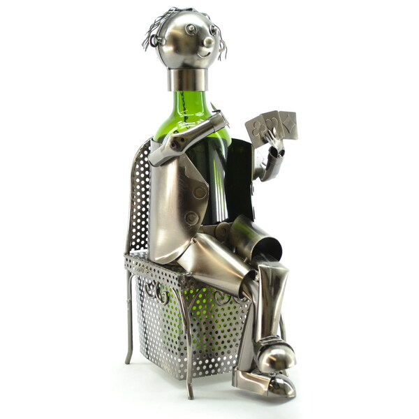 Wine Caddy Card Player Wine Bottle Holder