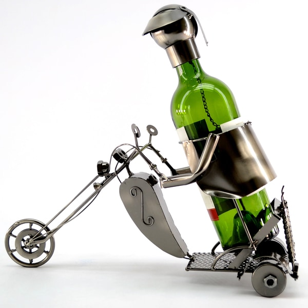 Wine Caddy Motorcyclist Wine Bottle Holder