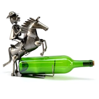 Wine Caddy Cowboy on Horse Wine Bottle Holder