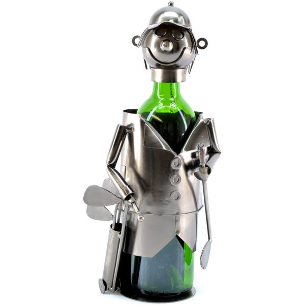 Wine Caddy Golfer with Bag Wine Bottle Holder
