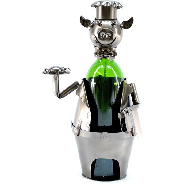 Wine Caddy Pig Waiter Wine Bottle Holder 10934008