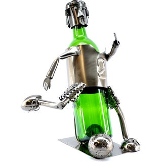 Wine Caddy Soccer Player Wine Bottle Holder