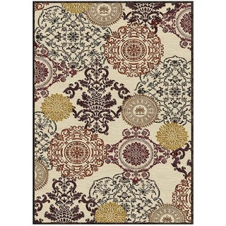 Diamond Granada Medallion Cream Rug (7'6 x 10'6)
