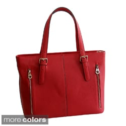 Concealed Carrie Smooth Leather Tote Bag