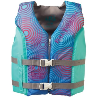 Full Throttle Youth Aqua/ Silver Hinged Water Sport Vest