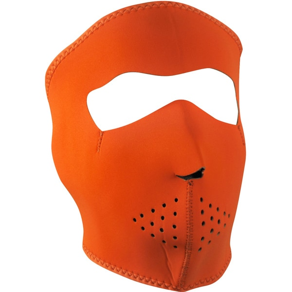 Zan Headgear Neoprene Orange Face Mask 10934179