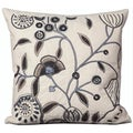 Mina Victory Luminecence Floral Ivory 20 x 20-inch Decorative Pillow by Nourison