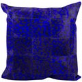 Mina Victory Natural Leather Hide Spotted Purple 20 x 20-inch Decorative Pillow by Nourison