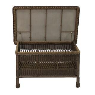 Resin Wicker Trunk Table