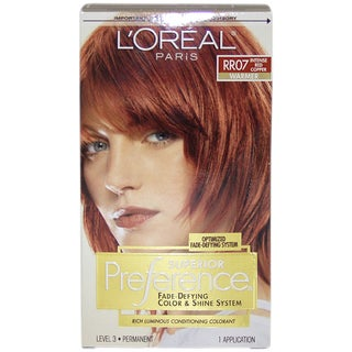 L'Oreal Superior Preference Fade-Defying 'Intense Red Copper #RR07' Warmer Hair Color
