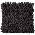 Mina Victory Black Pom Pom 18 x 18-inch Decorative Pillow by Nourison