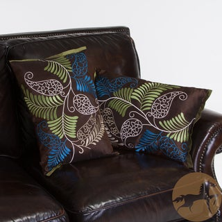 Christopher Knight Home Ferns Brown Pillows (Set of 2)