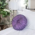 Christopher Knight Home 14-inch Round Purple Sateen Pillow