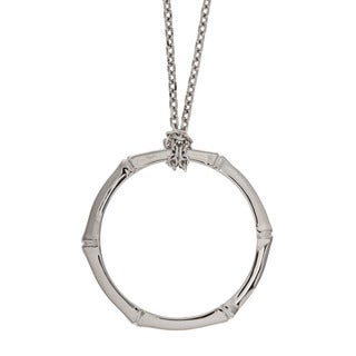 ELLE Jewelry Sterling Silver Segmented Circle Necklace