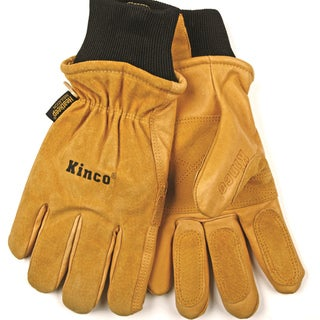 Tan Pigskin Leather Cold Weather Gloves