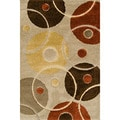 Miracle Hoops Beige Area Rug (7'10 x 9'10)