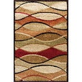 Charlestown Movement Multi Area Shag Rug (5' x 7'6)