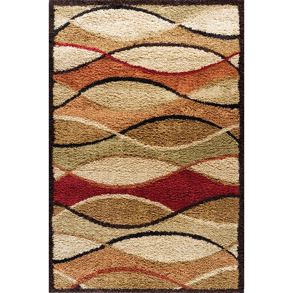 Somette Charlestown Movement Multi Shag Area Rug (7'10 x 9'10)